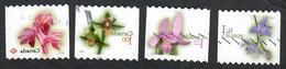 Sc. # 2357-60 Flower Definiitive Coils Domestic Thru International Rates Sawtooth Perfs 2010 Used K639 - 1952-.... Règne D'Elizabeth II