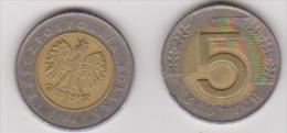 Polen 5 Zlotych K-N / Al-N-Bro Jahrgang 1994 Schön Nr.290 - Polen