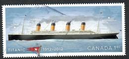 Sc. # 2538 Titanic Self-adhesive International Rate Single 2012 Used K645 - 1952-.... Règne D'Elizabeth II