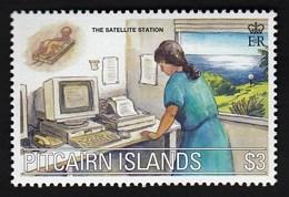 Pitcairn Islands 2000 / Millennium Commemoration - Communications, Satellite Station, Computer / MNH, Mi 567 - Telecom