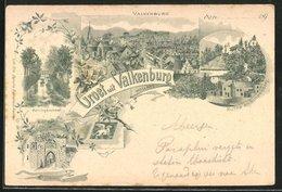 Lithographie Valkenburg, Ruine En Schaesberg, Koningswinkel - Valkenburg