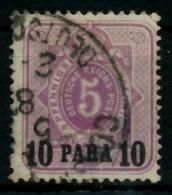 DEUTSCHE AUSLANDSPOSTÄMTER TÜRKEI Nr 1b Gestempelt Gepr. X713B92 - Deutsche Post In Der Türkei