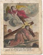 Image Religieuse J C Sauveur Du Monde Porte La Croix Pour Nos Pechers - Images Religieuses