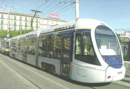 TRAM TRAMWAY RAIL RAILWAY RAILROAD * PININFARINA SIRIO * GARIBALDI SQUARE NAPLES ITALY ITALIAN * Top Card 0382 * Hungary - Tramways