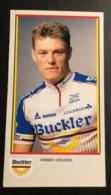 Wiebren Veenstra - Buckler - 1991 - Flyer - Cyclists - Cyclisme - Ciclismo -wielrennen - Ciclismo