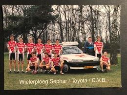 Sephar Toyota De Jonge Renner 1991 - Card / Carte - Cyclist - Cyclisme - Ciclismo -wielrennen - Ciclismo