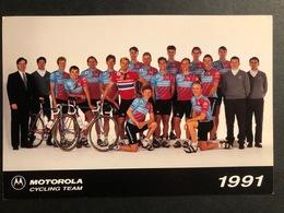 Motorola 1991 - Card / Carte - Cyclist - Cyclisme - Ciclismo -wielrennen - Ciclismo