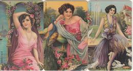GREECE(chip) - Set Of 3 Cards, Painting/Folk Art, 05/99, Used - Telefonkarten