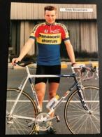 Eddy Bouwmans - Panasonic 1992 - Carte / Card - Cyclists - Cyclisme - Ciclismo -wielrennen - Ciclismo