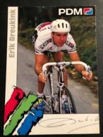 Erik Beukink - PDM - 1992 - Carte / Card - Cyclists - Cyclisme - Ciclismo -wielrennen - Ciclismo