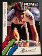 Nico Verhoeven - PDM - 1992 - Carte / Card - Cyclists - Cyclisme - Ciclismo -wielrennen - Ciclismo