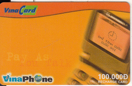 VIETNAM - Mobile Phone, VinaPhone Recharge Card 100000D, Exp.date 31/12/04, Used - Vietnam