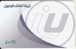 LIBYA - Libyana Prepaid Card LYB 30, Used - Libya