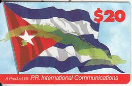 PUERTO RICO - Flag, PR International Comm Prepaid Card $20, Used - Puerto Rico