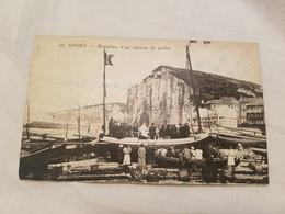 Cp 76 Yport Baptême D'un Bateau De Pêche - Yport