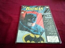BATMAN    A DEATH IN THE FAMILY  N° 426 DEC 88 - DC