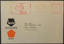 Belgium - Advertising Meter Franking Cover 1974 Vilvoorde Logo Levis U158 - Franking Machines