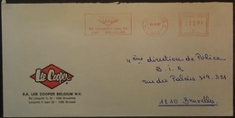 Belgium - Advertising Meter Franking Cover 2001 Anderlech Logo Lee PBU1491 - 2000-...