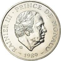 Monnaie, Monaco, Rainier III, 100 Francs, 1989, SPL, Argent, Gadoury:MC164 - 1960-2001 Nouveaux Francs