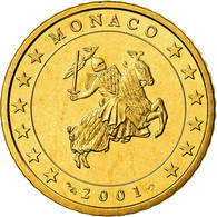 Monaco, 50 Euro Cent, Prince Rainier III, 2001, Proof, FDC, Laiton, KM:172 - Monaco