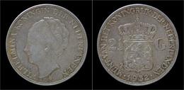 Netherlands Wilhelmina I 2 1/2 Gulden(rijksdaalder)1932 - 2 1/2 Gulden