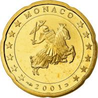 Monaco, 20 Euro Cent, Prince Rainier III, 2001, Proof, FDC, Laiton, KM:171 - Monaco