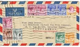 PENANG  COVER TO  U.S. - Penang