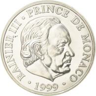 Monnaie, Monaco, Rainier III, 100 Francs, 1999, Paris, SUP, Argent, Gadoury:MC - 1960-2001 Nouveaux Francs