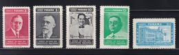 Panama - 1959 - Sc  427-429 C222-C223 - 50th Anniversary, National Institute - MNH - Panamá