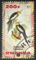 141. RWANDA (200F) 2013 USED STAMP BIRDS, PARROTS  . - Ruanda