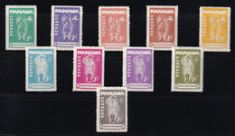 Panama - 1964 - Sc RA52 - RA61 - Girl Scout - Complete Set - MNH - Panamá
