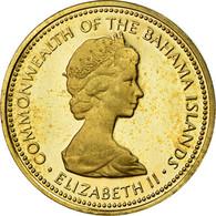 Monnaie, Bahamas, Elizabeth II, Cent, 1973, Franklin Mint, U.S.A., SUP, Laiton - Bahamas