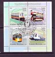 GUINEE-BISSAU 2006 TRAMWAYS-METRO  Y N°2210/13 OBLITERE - Tramways