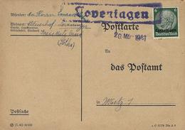 1941-  C P  Affr. 6 Pf Oblit. Encadré De LOVENINGEN ( Louvigny ) Pour Metz - Alsace Lorraine
