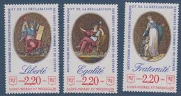 S.P.M.-1989-N°499/491** DROITS DE L'HOMME - St.Pierre & Miquelon