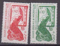 S.P.M.-1986-N°502/503** SERIE COURANTE.LA PECHE - St.Pierre & Miquelon