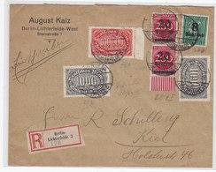 Deutsches Reich R-Brief Der Fa.August Kalz Lichterfelde Mit MIF+AKs - Deutschland