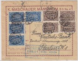 Deutsches Reich Brief Der Fa.K.Maschauer Mannheim Mit MIF - Deutschland