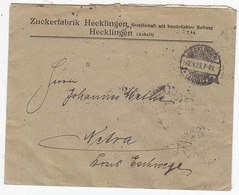 Deutsches Reich Brief Der Zuckerfabrik Hecklingen Mit Massenfrankatur - Deutschland