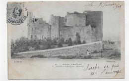 (RECTO / VERSO) CHATILLON D' AZERGUES EN 1905 - N° 49 - VIEUX CHATEAU - BEAU CACHET - CPA PRECURSEUR VOYAGEE - France
