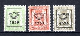 PRE417/419 MNH 1939 - Klein Staatswapen Opdruk Type C - REEKS 15 - Precancels