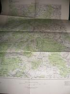 MACEDOINE : SKOPLJE , SKOPJE    CARTE DE 1908 K.u.K. MILITÄRGEOGRAPHISCHES INSTITUT - Geographical Maps