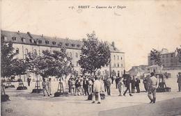 VIL- BREST   EN FINISTERE CASERNE DU 2 EME DEPOT    CPA  CIRCULEE - Brest