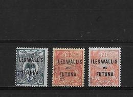 Wallis Et Futuna Yv. 18 21 Et 22 O. - Wallis And Futuna