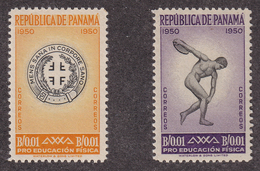 Panama - 1952 - Sc RA34 - RA35 - Turners' Emblem - Complete Set - MNH - Panama
