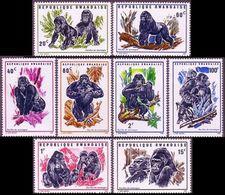 Rwanda 1970 - Fauna ☀ Wild Animals - Gorillas Set Of 8v ☀ MNH** - W.W.F.