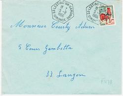 France, De 33 Lestiac Sur Garonne  , Recette Auxiliaire Rurale, 1966 TB - Marcophilie (Lettres)