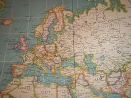 . Carte Internationale Du Monde Par C.S HAMMOND ET Cie. Année 1957. - Geographical Maps