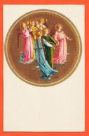 JEU114 Belle Enluminure Groupe Anges Gruppo ANGELI Group Of ANGELS Firenze Beato Angelico Florence 1910s SBORGI 346 - Angeli