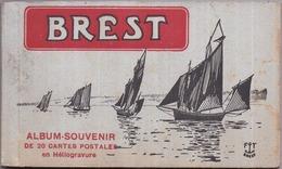 """29 - BREST - Carnet Album Souvenir 20 Cartes Postales Détachables - (""""cartes Postales En Héliogravure"""") - FT Brest - Brest"""